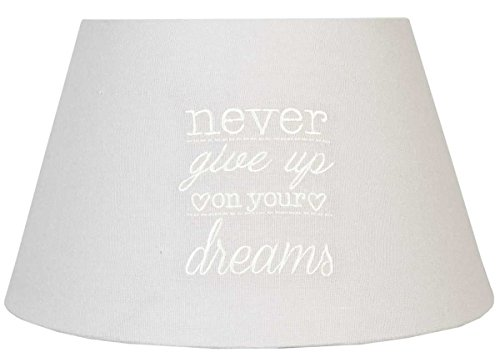 6LAK0237 Clayre & Eef - Abat-jour - Naturel - Never give up on your dreams ca. 30 x 17 cm / E27