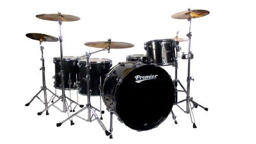 Premier Series Elite H289946QBSX Schlagzeug-Set, 4-teilig, Schwarz