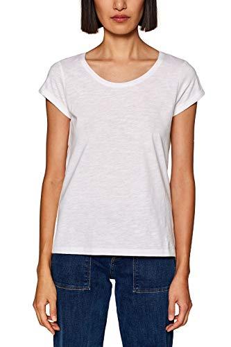 edc by Esprit 999cc1k802 Maglia a Maniche Lunghe, Bianco (White 100), Medium Donna