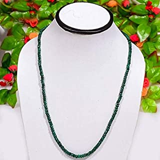 """Jewel Beads Natural Beautiful jewellery 3.5-5 MM Natural Dyed Emerald Micro Faceted Rondelle full 20"""" inch Necklace strands,Emerald Necklace, Emerald GemstoneCode:- JBB-28194"""