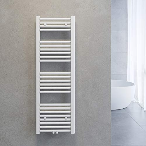 SONNI Handtuchheizkörper Handtuchtrockner Heizkörper Bad Mittelanschluss Handtuchwärmer Badheizkörper Weiß Gerade 40 * 120cm