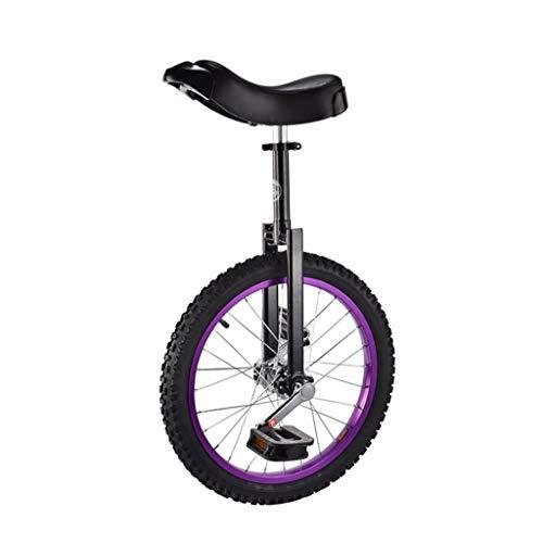 Monocicli Carriola, Monociclo per Adulti da 20 Pollici per Bambini, acrobazie, Cyclette per Fitness Singolo (4 opzioni di Colore) Sport e Tempo Libero (Color : A)