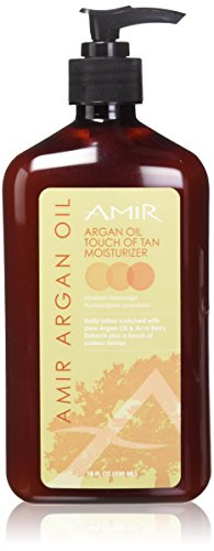 Amir Touch of Tan Moisturizer with Argan, 18 Fl Oz