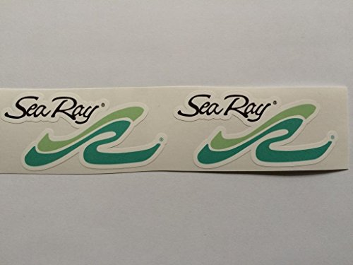 2 Sea Ray Green Colored Die Cut Decals
