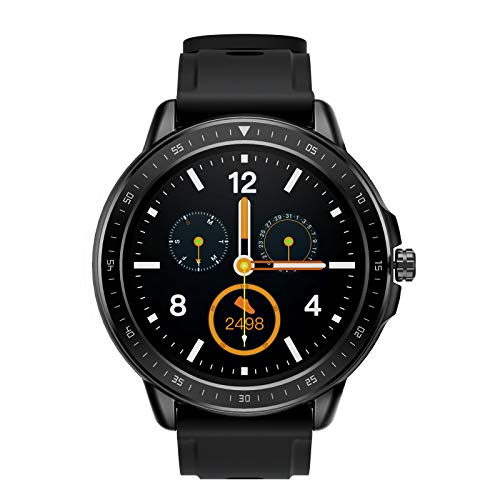 SANAG Smartwatch Damen, Smartwatch Wasserdicht IP67, HD-Touchscreen Sport Smartwatch (Schwarz)