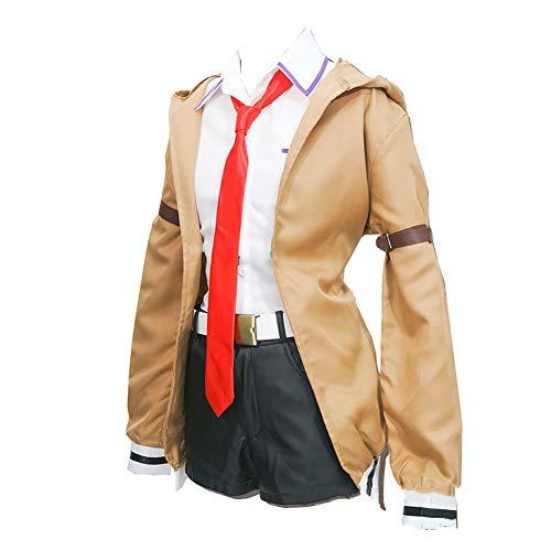 LISI Anime Steins Gate Cosplay Costume, Fantasia Uniforme Scolastica Giacca Pelle Pantaloncini E Tie Red, Halloween Natale Giochi Giocattoli (Set 6 Pezzi),A,L