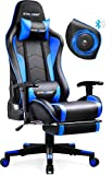 GTRACING Gaming Chair with Footrest & Speakers Bluetooth...