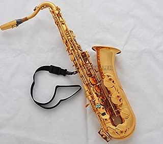 FidgetGear Professional Gold C Melody Saxophone Sax High F# ABALONE Shell +2Necks With Case