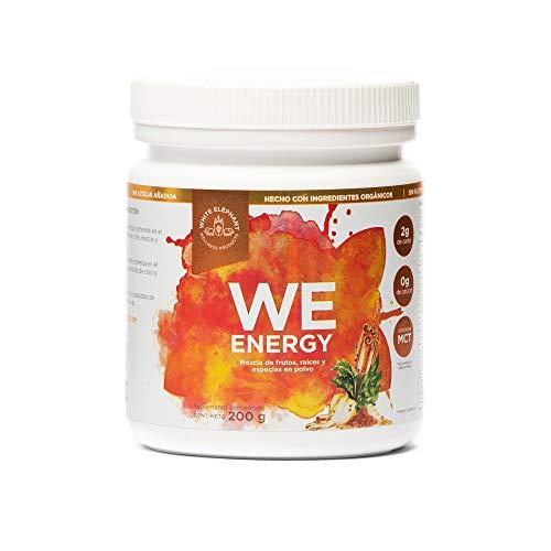 WE ENERGY Energizante Natural 200 grs. White Elephant. Mezcla de superfoods con Maca, cúrcuma, matcha, cacao, guaraná, jengibre, té verde.