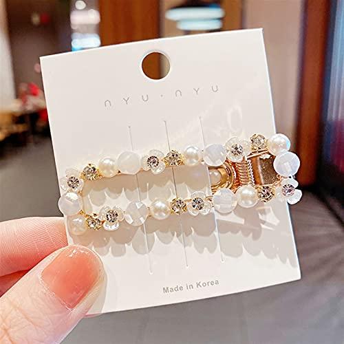 JZYZSNLB Hebillas de Pelo Nuevas Mujeres Elegante Cáscara Flor Pearls Peluquerías Dulce Pelo Clips Diezo Barrettes Moda Accesorios para el Cabello (Color : 7)