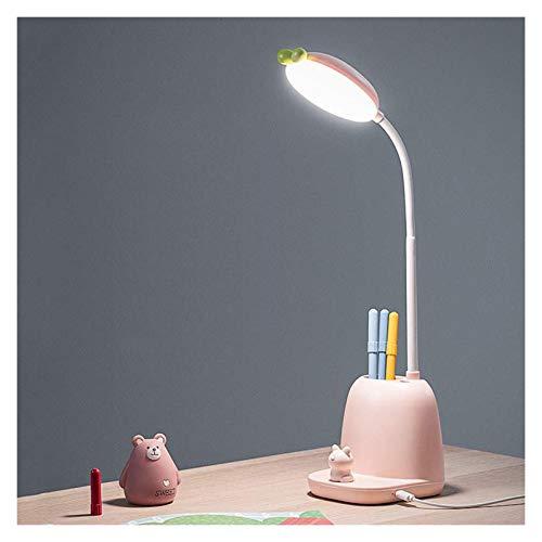Lámpara de mesa Lámpara de escritorio de atenuación de la mimentación de la escalera de enchufe, luz de escritorio LED con 3 modos de iluminación, lámpara de escritorio de lectura de llaves táctiles d