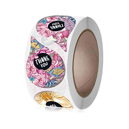 Etiquetas de regalo para embalaje, etiquetas adhesivas de trébol, rollo de 2,54 cm, etiquetas redondas de canning para manualidades, 500 etiquetas por rollo