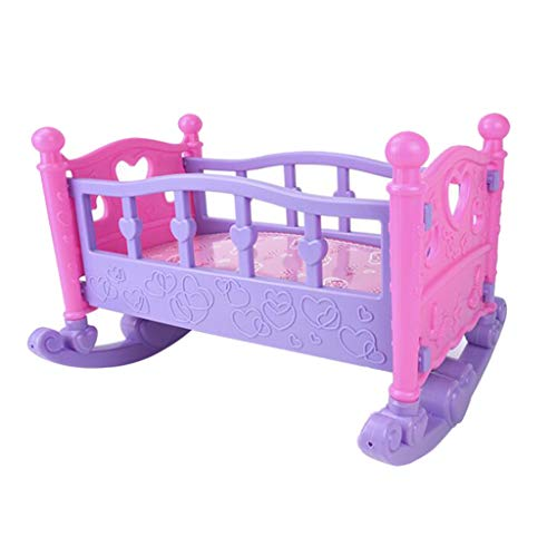 SaniMomo Doll Rocking Bed Toy Infant Carriage Nursery Toy Gift