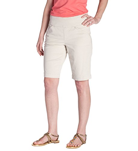 Jag Jeans Women's Ainsley Pull On Classic Fit Bermuda Short, Stone Twill, 10