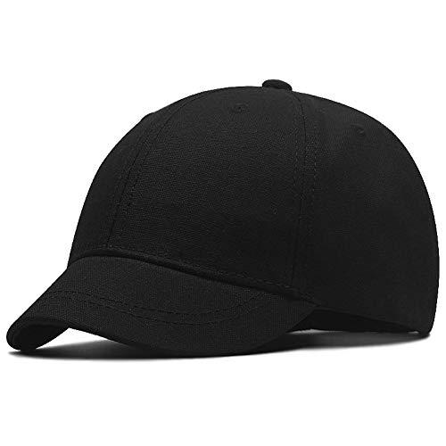 FORBQM Baseballmütze Hardtop Sport Sonnenhüte Männchen Short Brim Cotton Snapback Cap Big Head Männer Frauen Plus Size Baseball Caps 55-61Cm 61-68Cm