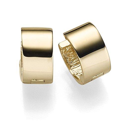 Ohrringe Creolen 6x10mm Ohrschmuck aus 585 Gold Gelbgold glänzend flach