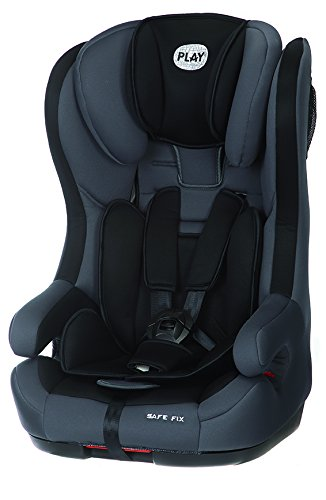 Play Safe Fix - Silla de coche, grupo 1/2/3, color negro y gris