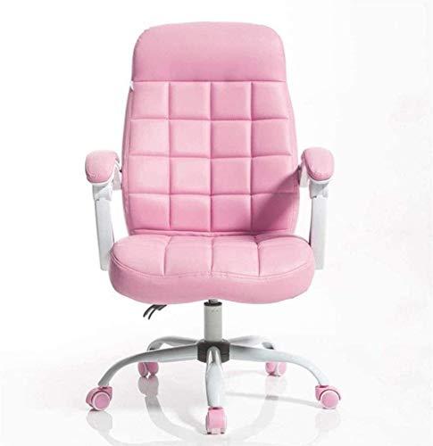 AWCPP Executive Office Chair Möbel Home Computer Stuhl Bürostuhl Esports Stuhl Spielstuhl Rücken Studentenstuhl Warze Pink Plaid Design Multi-Winkel Liegestühle Schreibtischstühle