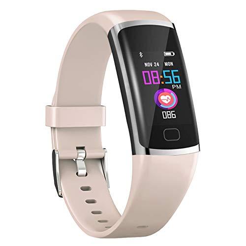 Polywell Fitness Tracker, Aktivitätstracker mit Herzfrequenz Monitor und Schlaf Monitor, Bluetooth, wasserdicht, Schrittzähler und Kalorienzähler für Männer Men (Rosa)