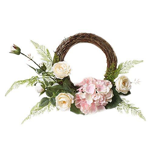 funihut Kunstrozenslinger, kroon, zijdebloem, decoratie voor huis/party/bruiloft