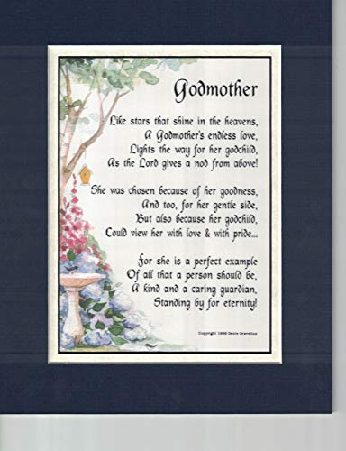 A Mother's Day Birthday Gift Present Poem for A Godmother #146,