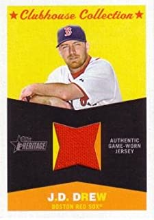 2009 Topps Heritage Clubhouse Collection #CC-JD J.D. Drew Game Worn Jersey Baseball Card