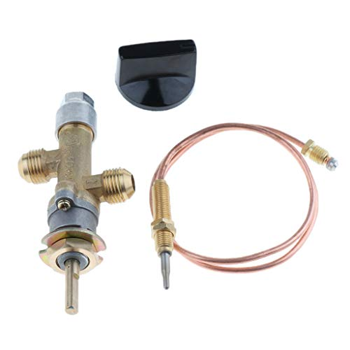 Gazechimp Gasofen Propangas Gasgrubenheizungsregelventil mit Thermoelement und Knopf