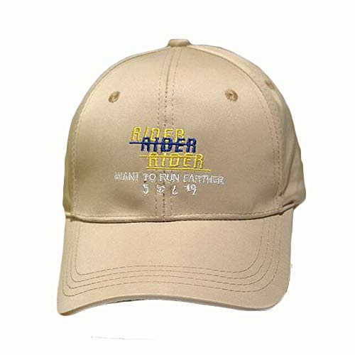 Best Price Hat Men's and Women's Summer Embroidery Letters Baseball Cap Simple Cap (Color : Khaki)