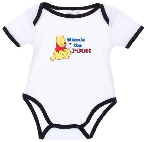 Body bébé mixte manches courtes Winnie l'ourson Blanc/marine 12mois