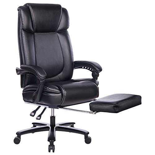 REFICCER Big and Tall Bonded Leather Office Chair