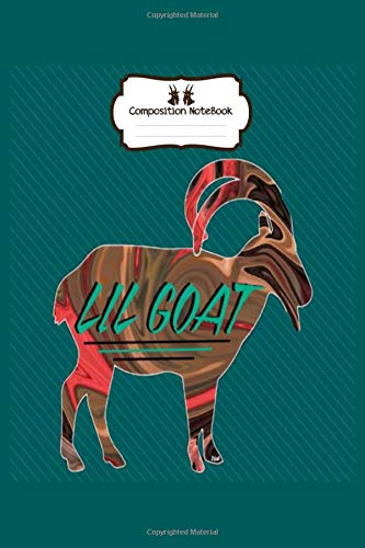 Notebook: lil goat invert - 50 sheets, 100 pages - 8 x 10 inches