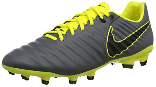 Nike Men's Legend 7 Academy (FG), Scarpe da Calcio Uomo, Grigio (Dark Grey/Black/Opti Yellow 070), 42 EU