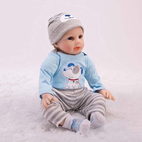 YHX Die Besten Silikonpuppen Für Mädchen, Handgefertigte Wiedergeborene Puppen, 22 Zoll Realistisches Silikonvinyl Lebensecht Wiedergeborenes Neugeborenes Spielzeug Für Alzheimer-Geschenke
