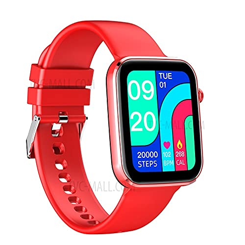 Z15 Smart Watch, Reloj Inteligente con Pulsómetro, Cronómetros, Calorías, Monitor de Sueño, Podómetro para Hombre y Mujer Compatible con iOS e Android (Rojo)