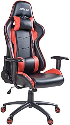 Merax High Back Gaming Chair Computer Desk Chair Adjustable Swivel Chair Office Racing Chair with Lumbar