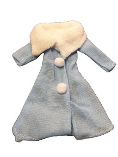 fat-catz-copy-catz Poupée Taille Vêtements Bleu Ceinture Hiver à Capuche Manteau Made for Barbie
