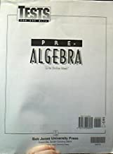 Pre-Algebra Tests, Grade 8 (Bob Jones)