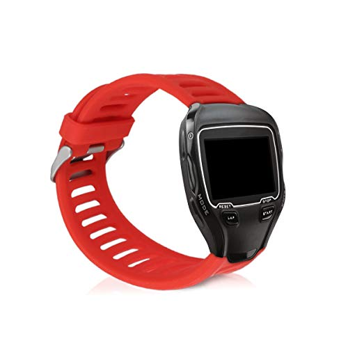 kwmobile Silicone Watch Strap for Garmin Forerunner 910XT - Fitness Tracker Replacement Band - Sports Wristband Bracelet with Clasp