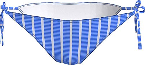 Tommy Hilfiger String Side Tie Bragas de Bikini, Hilfiger Stripe Wonder Blue, L para Mujer