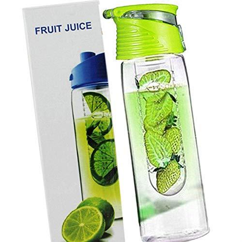 teng hong hui 800 Milliliter Frucht Infusing Wasserflasche mit Obst Obst Infuser Wasser Infuser Infuser und Flip Lid Zitronensaft Make-Flasche