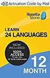 12 Month UNLIMITED - Learn All 24 Languages