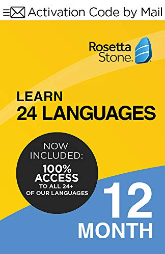 Rosetta Stone: Learn UNLIMITED Languages for 12 Months - Learn 24 Languages (Activation code by Mail)