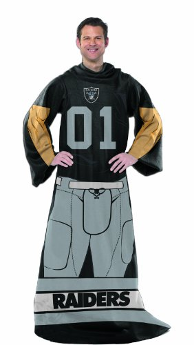 """NFL Dallas Cowboys Adult Comfy Throw Blanket with Sleeves, 48"""" x 71"""""""