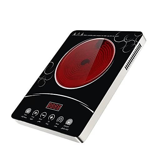 Estufa De Inducción 2200W Quemador De Encimera De Inducción Eléctrico Con Sensor LCD Temporizador Táctil 6 Quemador De Inducción De Potencia Para Cocinar Inducción Placa Vitrocerámica