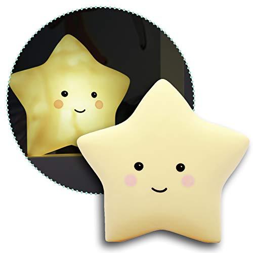 reer lumilu Sweet Dreams Star, süßes Sternen-Nachtlicht, tolles Taufgeschenk, Geburtstags-Geschenk für Jungen und Mädchen, gelb, 52265