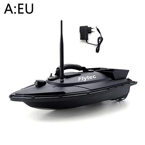 HEIRAO Angeln RC Köderboot, 500m Fernbedienung, 1.5kg Laden, Doppelmotor und Doppel Silo, Angeln Geschenke für Erwachsene Kinder