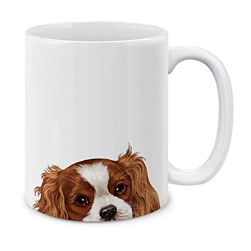 MUGBREW Cavalier King Charles Spaniels Dog Ceramic Coffee Gift Mug Tea Cup, 11 OZ