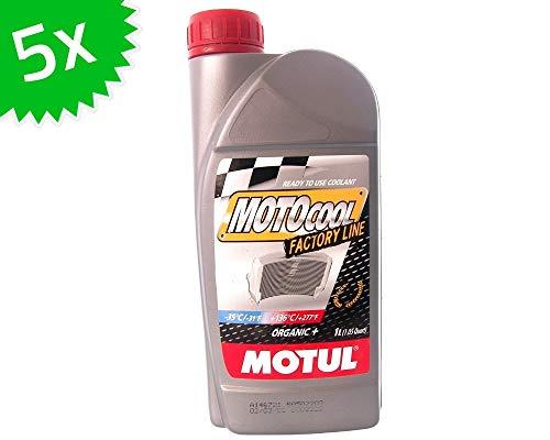 5X 1 Liter Kühlmittel MOTUL Motocool Factory Line (rot) 5 Liter Roller Motorrad