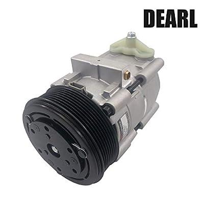 Dearl A/C AC air condition compressor with Clutch V6 4.5L V8 4.6L 5.4L 6.0L V10 6.8L compatible with E-450 E450 Excursion F-150 F-250 F-350 F-450 F-550 F150 F250 F350 F450 F550 Super Duty