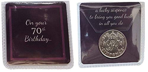 70th BIRTHDAY GIFT 1951 LUCKY SIXPENCE PRESENT CELEBRATION BIRTH YEAR Unique present 2021